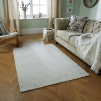 MILANO GREY CREAM COLOURED LUXURY WOOL RUG AVAILABLE IN VARIOUS SIZES