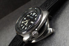 SEIKO NEW TURTLE CUSTOM BEZEL - THE.SUPER.COIN.ONE - POLISHED- NTD-4-P