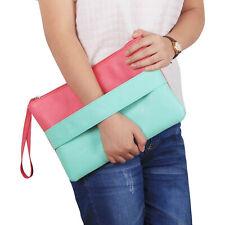 Women Handbag Solid Artificial Leather Bag Day Clutches Bolsa Feminina Wristlets