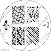 NEW IMAGE PLATE M97 Konad Stamping Nail Art Design Nails Art USA SELLER