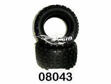 08043 COPPIA GOMME PER MONSTER TRUCK OFF ROAD TYRE 1:10 HIMOTO