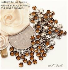 30 Swarovski ss10 Smoked Topaz Vintage Rose Montees Sew On Crystal stones 10ss