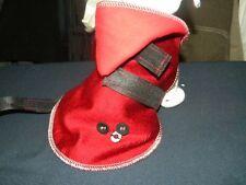 manteau chien 20cm velours rouge creation toutou qui a du chien!