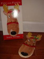 Fitz and Floyd Reindeer Server Plate Christmas NIB Ceramic
