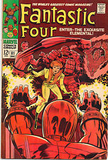 Fantastic Four #81 - Crystal Joins & Wears The Blue Costume - 1968 (Grade 6.0)