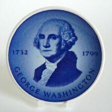 "ROYAL COPENHAGEN ALUMINIA - GEORGE WASHINGTON - PLAQUETTE 3"" PIN DISH #175 8CM"