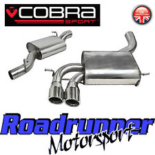 """Cobra Audi S3 8P 2.0 Cat Back Exhaust System 3"""" Stainless Resonated 3 Door AU08"""