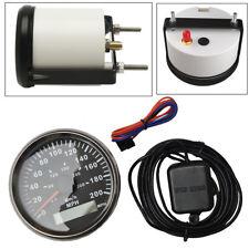 "Universal 3-3/8"" GPS 200MPH 300KM/H Speedometer Gauge Red LED Backlight For Car"