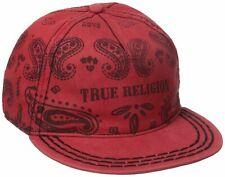 True Religion Men's Bandana Strapback Hat Cap in Red