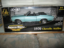 1 18 ERTL ELITE 1970 CHEVELLE MALIBU TURQUOISE BYC CONVERTIBLE CUSTOMIZED