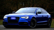 AUDI A3 A4 A4 LED BLUE LIGHT FRONT CAR GLOW LOGO BADGE EMBLEM RINGS GRILL