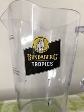 Bundaberg Rum Tropics Plastic Drink Jug Bar Collectable Used Once #Sunday