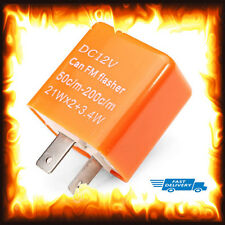 Velocidad ajustable de 2 Pines Indicador LED MOTOCICLETA FLASHER Relé Resistor Fix Flash