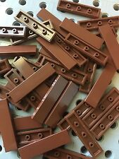 Lego New 50 Brown Smooth Finishing Flat Tiles 1x4 Modular Buildings Bricks Floor