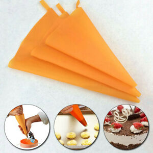 Silicone Reusable Icing Piping Cream Pastry Bag Cake Decorating Supplies DIY