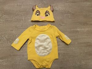 Disney Store Baby Simba Lion King Bodysuit 0-3 Months