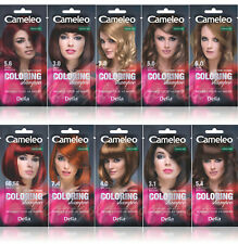 Delia Cameleo Temporary Hair Colour Shampoo Dye Sachet 4 to 6 Wash Out + GLOVES