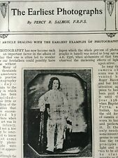 Early Photographs History Photography Camera Rare Old Antique Article Niepce