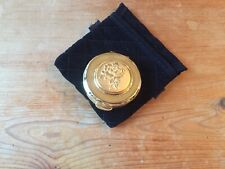 VINTAGE BUT NEW STRATTON GOLD COLOURED PILL BOX ROSE DESIGN