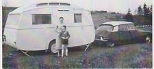 carte postale - CITROEN DS 19 + CARAVANE - CAMPING - 1960