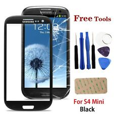 Black Front Outer Lens Glass Screen Replacement For Samsung Galaxy S4 Mini i9190