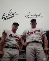 Boog Powell/Frank Howard Autographed 16x20 Photo with Inscriptions- JSA W Authen