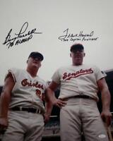 Boog Powell/Frank Howard Autographed 16x20 Photo with Inscriptions- JSA W Authen