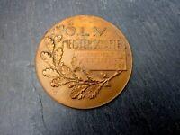 wunderschöne alte Kupfer Medaille ÖLV Junioren Gelände Meisterschaften 1925