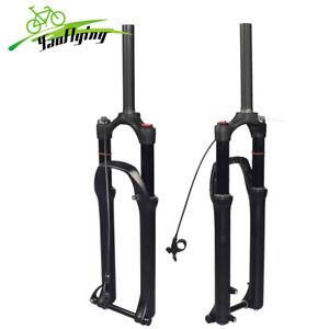 "29"" Air Suspension Fork MTB Thru Axle Bike Forks 130mm Travel Manual Remote"