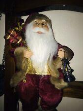Traditionnel permanent Père Noël Santa Figure Avec Verres Gris Large 45 cm