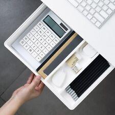 1x Hidden Desktop Stationery Storage Box Office Desk Bottom Paste Pen Holder Box