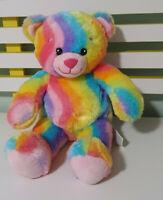 BUILD A BEAR RAINBOW TEDDY BEAR PLUSH TOY! SOFT TOY ABOUT 40CM KIDS TOY!