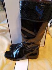 Coach FRESNA Black Patent Leather Boots Women's Size 7B