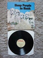 Deep Purple Vinilo Rock en Reino Unido 1982 fama Etiqueta Matriz A5/B4 Lp Gillan Arco Iris