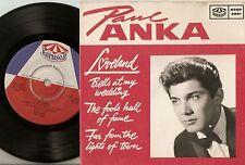 PAUL ANKA LOVELAND EP BELLS AT MY WEDDING & FAME & TOWN SWEDEN 45+PS 1962 R&R