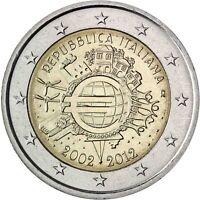 Italien 2 Euro 10 Jahre Euro Bargeld 2012 Gedenkmünze prägefrisch
