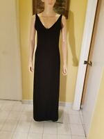 ST. JOHN EVENING BY MARIE GRAY Black Knit Embellished Paillettes  Gown, S4