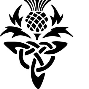 CELTIC THISTLE STENCIL   - RE-USABLE 7 X 8.5 INCH