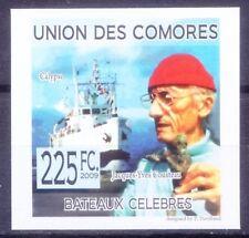 Jacques Cousteau, Marine conservation, Explorer, Comoros Imperf 2009 MNH