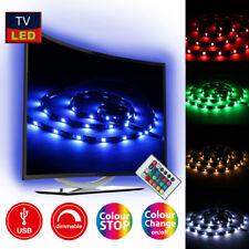 LED Hintergrund Beleuchtung Backlight TV Licht Stripe RGB USB Ambiente light 2m