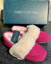 EMU AUSTRALIA TIRRA LADIES SHEEPSKIN WOOL MOCCASIN SLIPPERS SHOES NEW SIZE UK 3