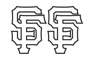 San Francisco Giants Decal Logo Vinyl  Sticker 2 items