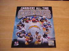 San Diego Chargers All Time Greats LICENSED 8X10 Photo FREE SHIPPING 3/more