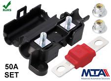 50A Midi Sicherungshalter Midisicherung Halter Set Flachsicherung Qualitätsware
