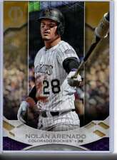 Nolan Arenado 2019 Topps Tribute 5x7 Gold #16 /10 Rockies