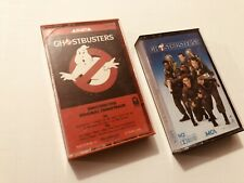 GHOSTBUSTERS 1 & II Movie Soundtracks Album Cassettes Tapes