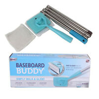 Collapsible Baseboard Buddy Extendable Duster Dust Cleaner Cleaning Pad Brush