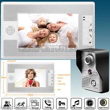 "7"" Video Door Phone Doorbell Intercom Home Entry Security System Camera Monitor"