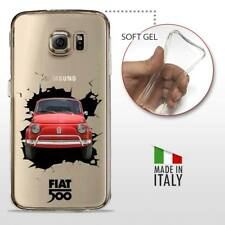 Samsung Galaxy S6 TPU CASE COVER GEL PROTETTIVA TRASPARENTE VINTAGE 500 Crash