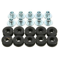 10Pcs Motorcycle Fairings Cowling Pieces Rubber Grommets Bolts For Honda
